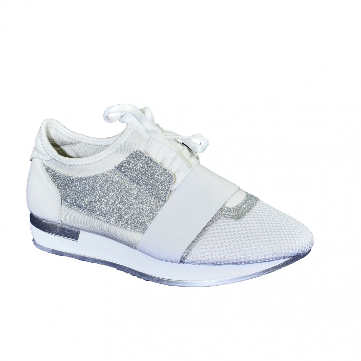 c12638c59a34 Dámske bielo-strieborné botasky BRIEN - 5