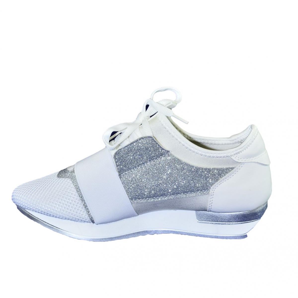 c78b832499a6 Dámske bielo-strieborné botasky BRIEN - 6