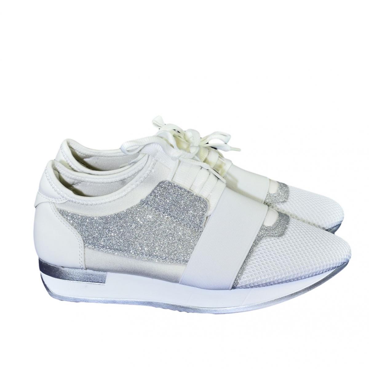 e9f0162f27bf Dámske bielo-strieborné botasky BRIEN - 2