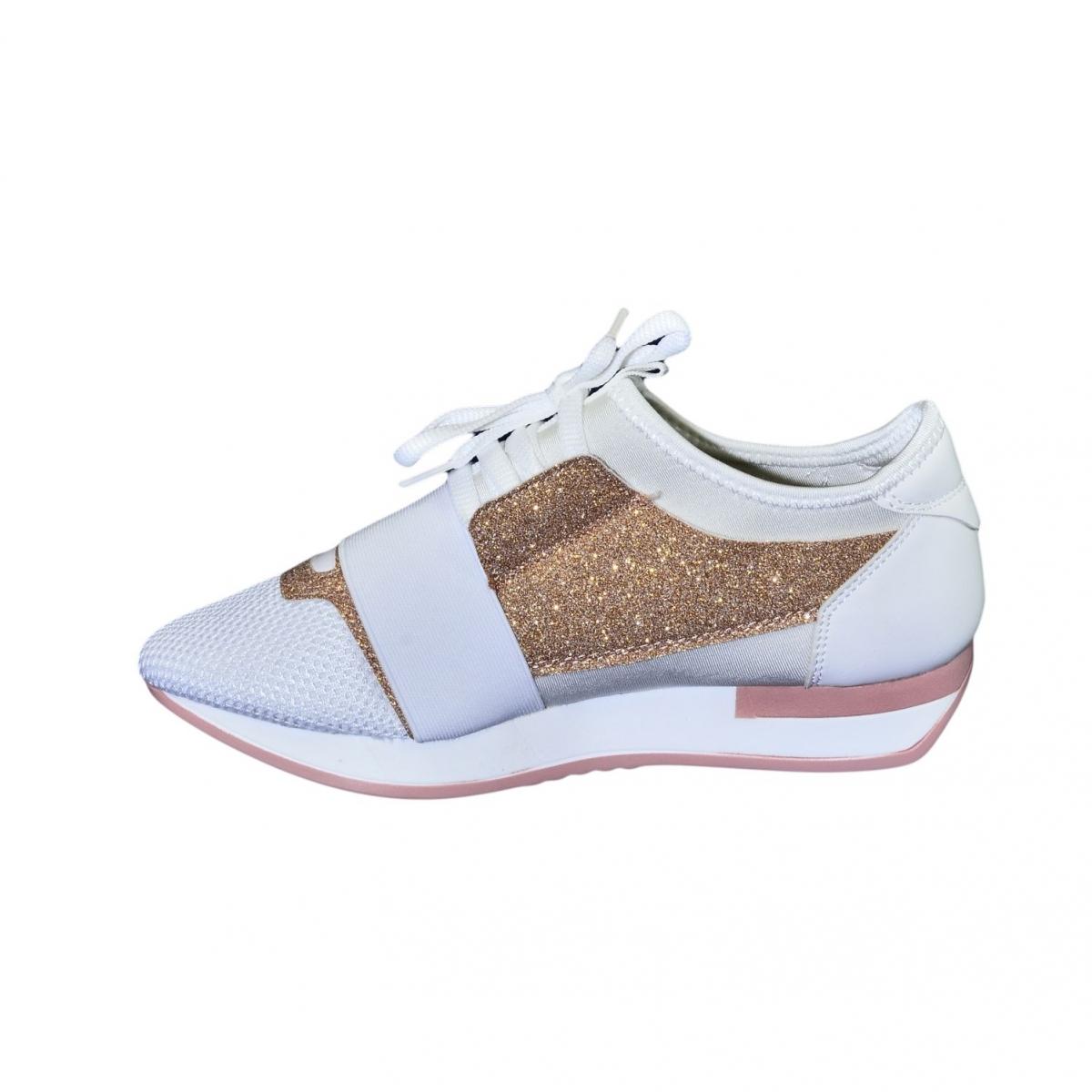 74db4acd4f01 Dámske bielo-ružové botasky BRIEN - 6
