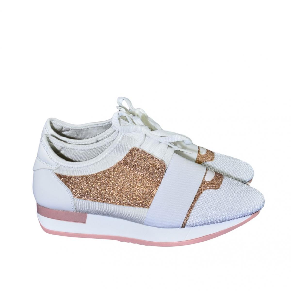 f1454986169e Dámske bielo-ružové botasky BRIEN - 2