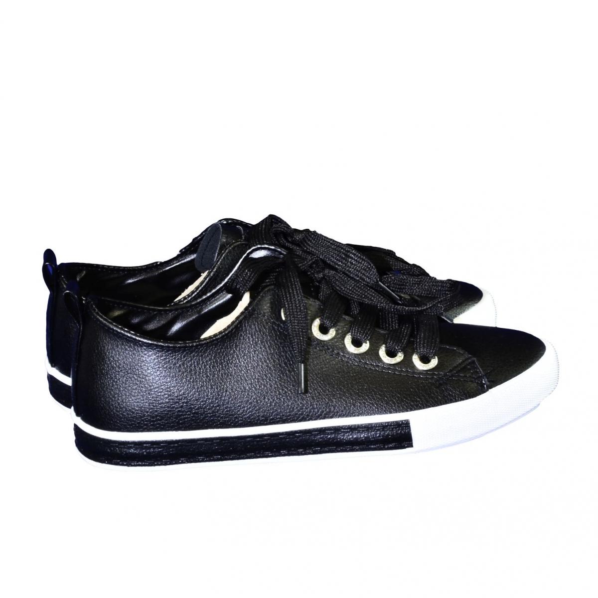 Dámske čierne tenisky LAZZA - 2 15ba3514f00