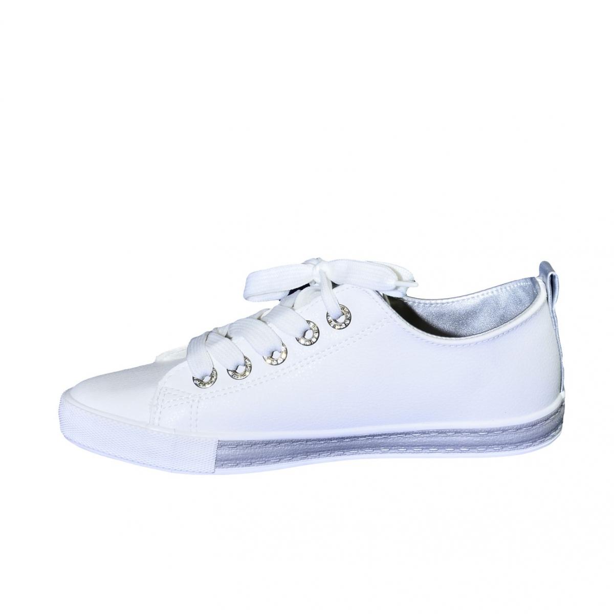 Dámske bielo-strieborné tenisky LAZZA - 6 4a625bf996f
