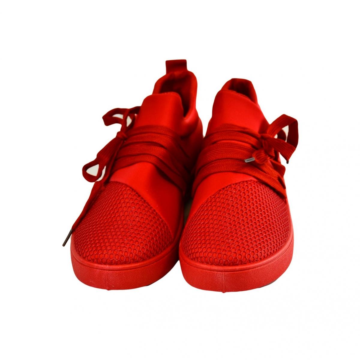 Dámske červené tenisky NABIN - 3 2da289ae5f8