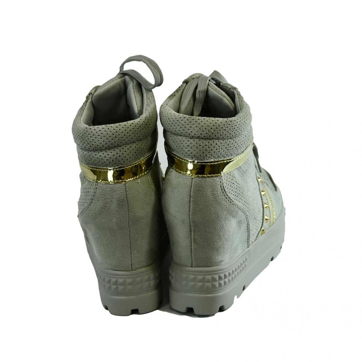 12369c9ef7 Dámske sivé topánky VIANA - 4