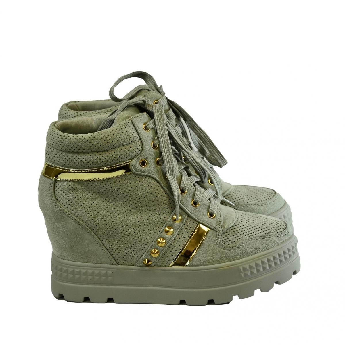 d4b8fff4a0 Dámske sivé topánky VIANA - 2