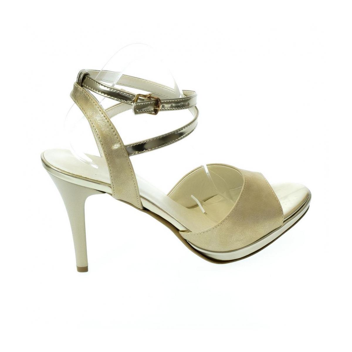 d4bff3e08f94 Dámske zlaté sandále ESMERALDA - 5