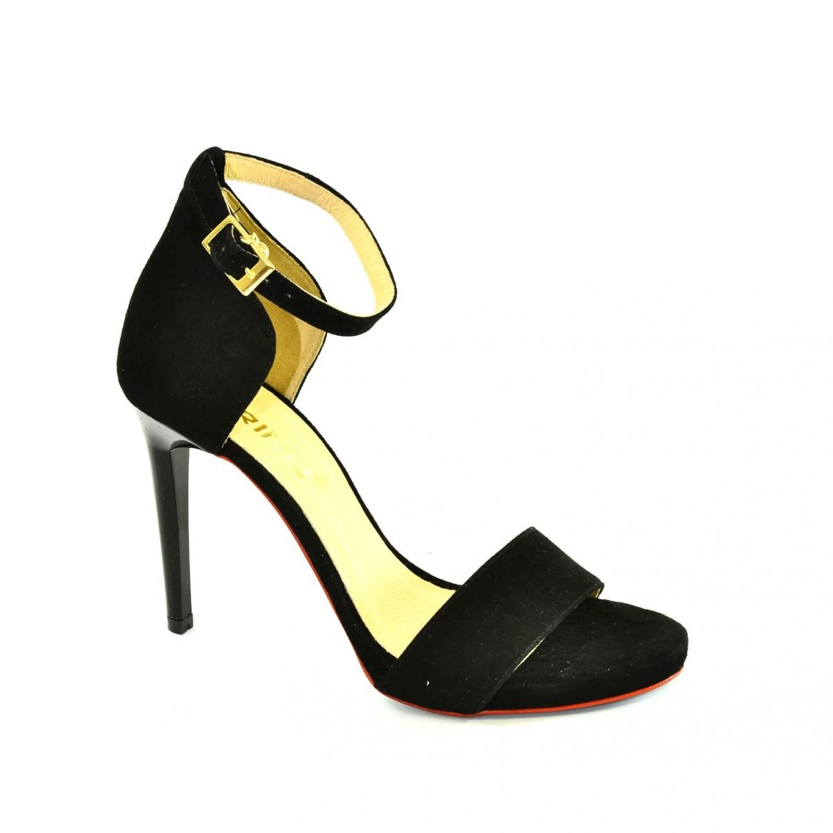 93c366c4c9e36 Dámske čierne sandále MIRELLA - 5
