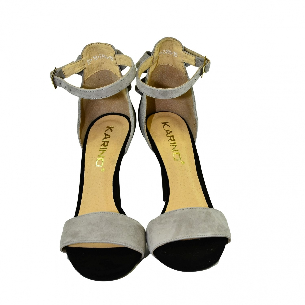 0cc27dd303a3 Dámske sivo-čierne sandále RAILI - 3