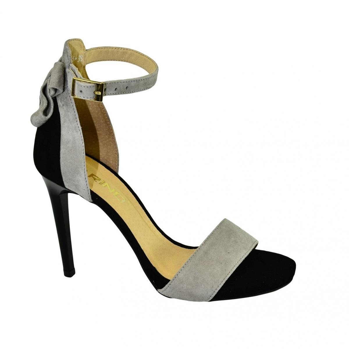 a1db1260a687 Dámske sivo-čierne sandále RAILI - 5