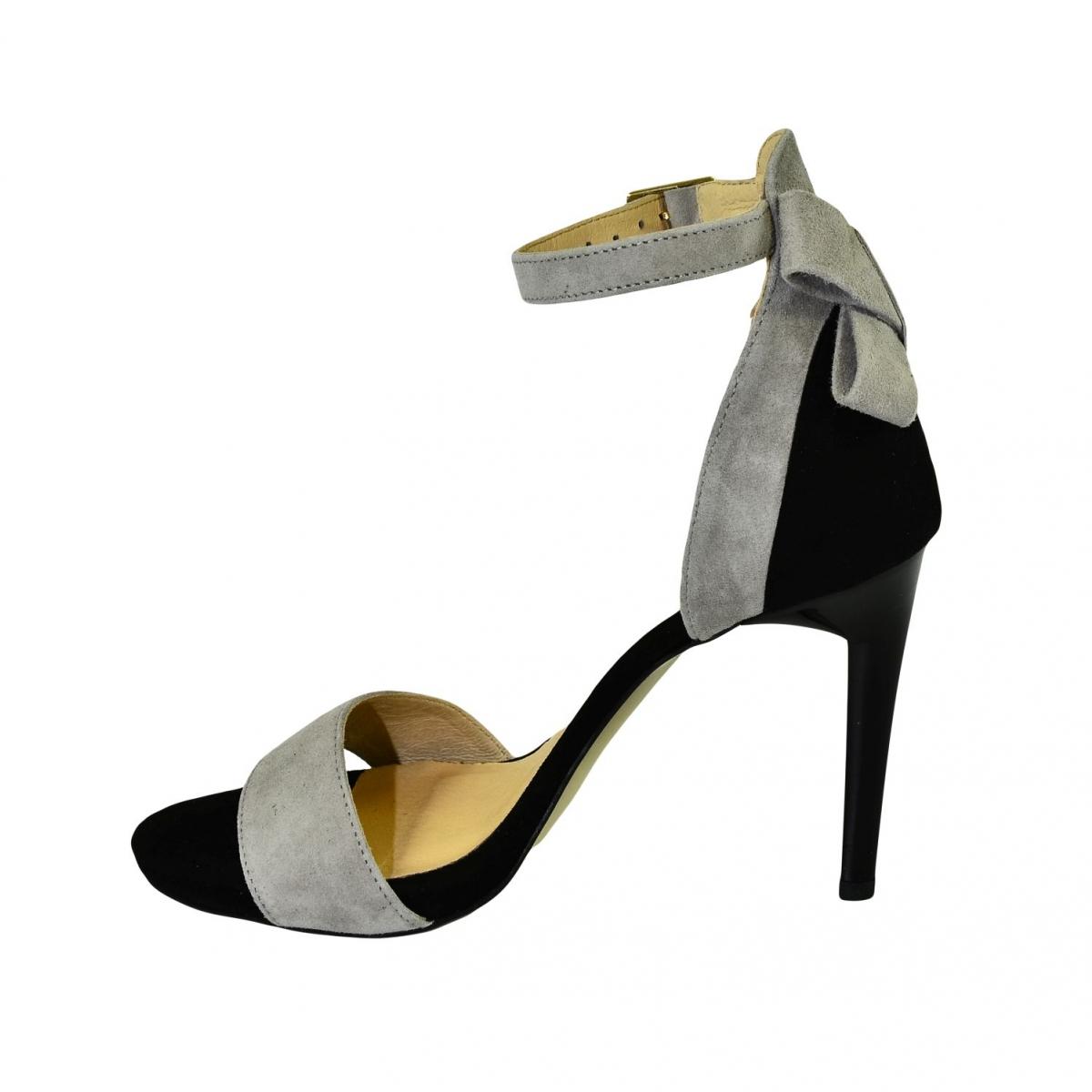 b5751e9b144c Dámske sivo-čierne sandále RAILI - 6