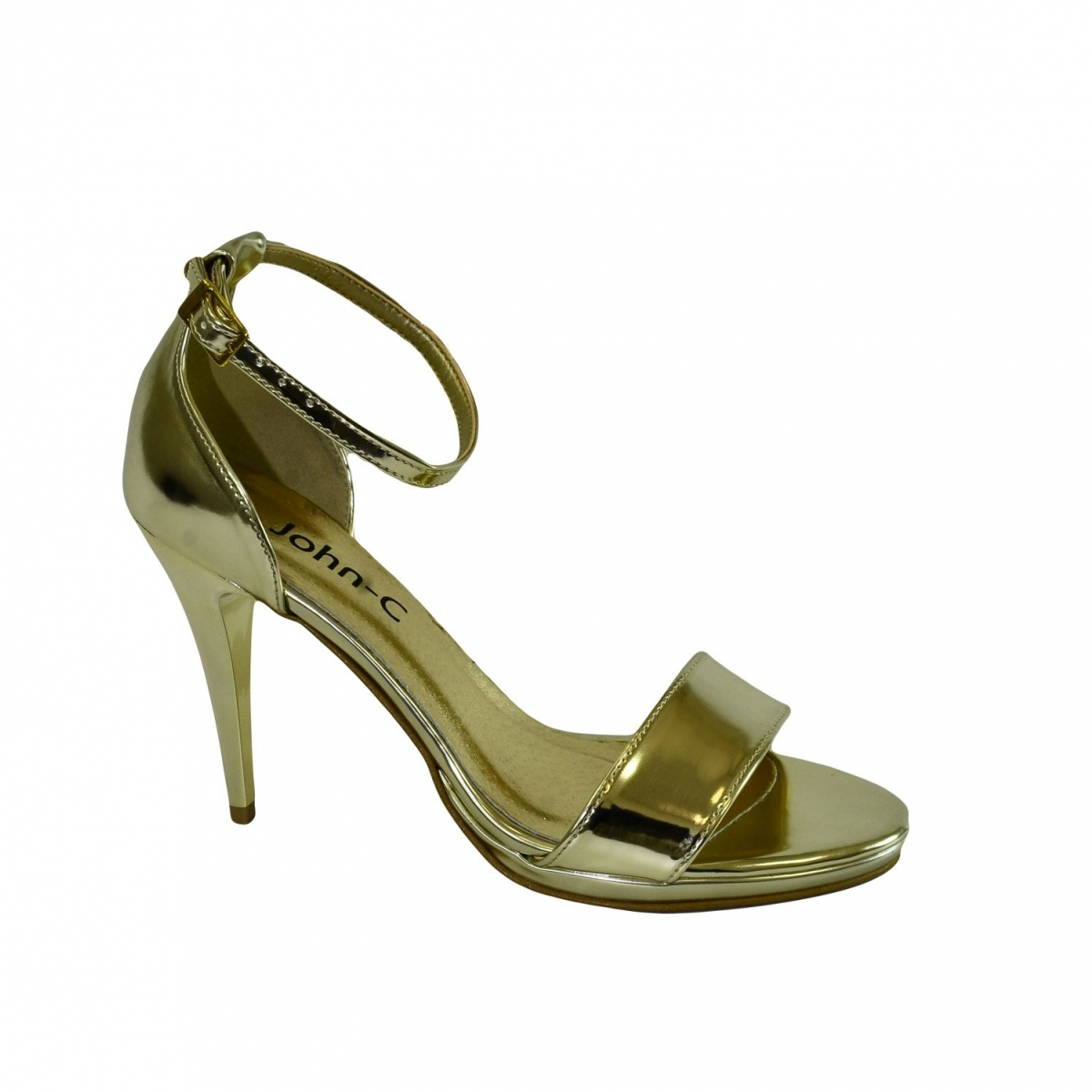 59d6e98aba13 Dámske zlaté sandále ROSARIA - 5