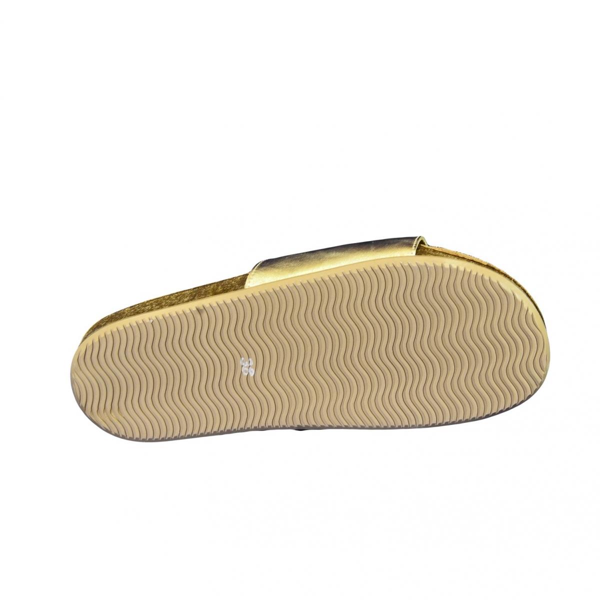 35360ab8f1a28 Dámske zlaté kožené šľapky ALBINIA - 7