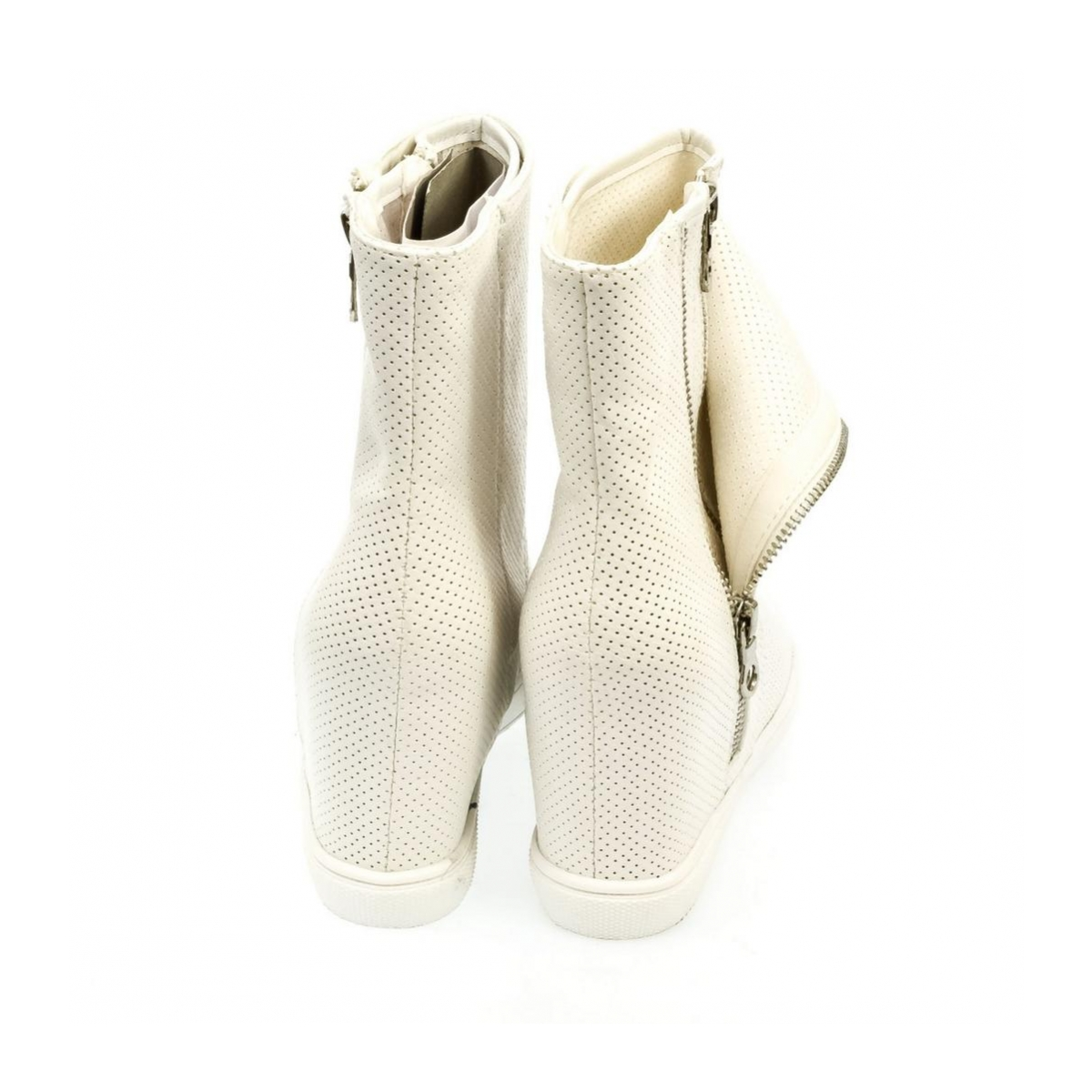 4ff47ee891 Dámske biele členkové čižmy RISE - 3