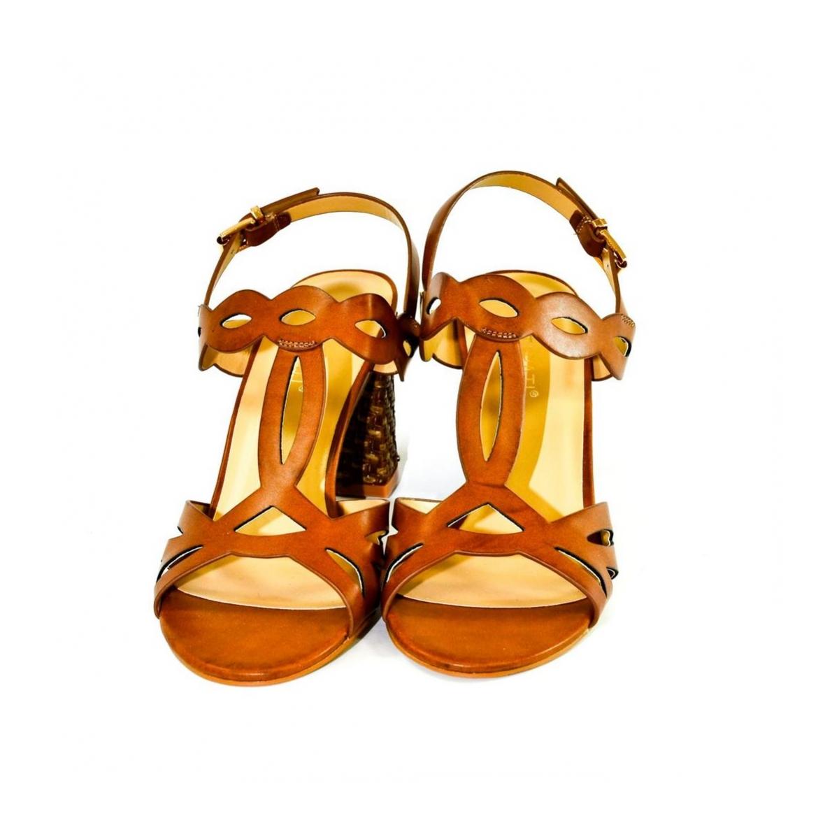 b9ba16e4ab Dámske hnedé sandále THERA - 4
