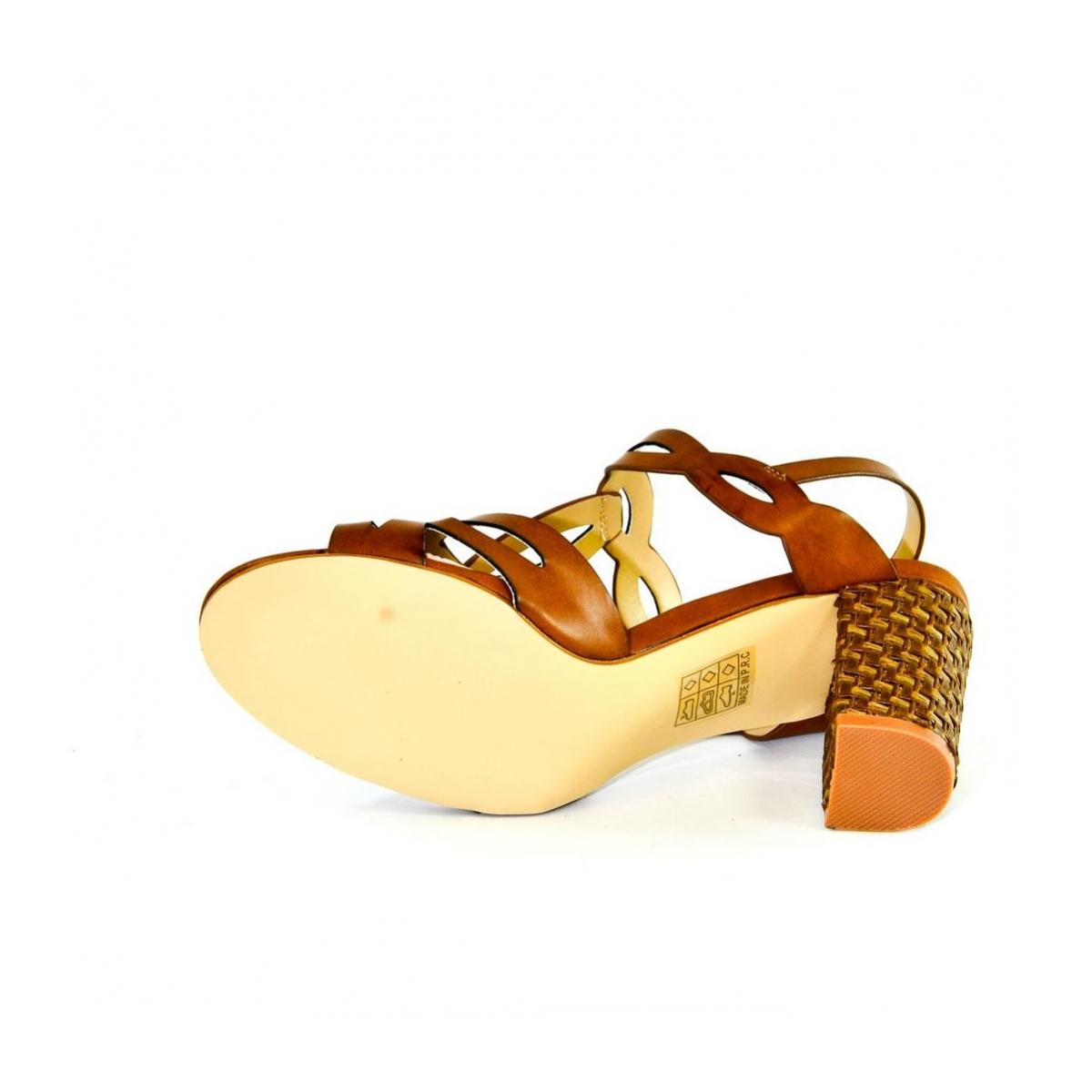 20d0a1fd5d Dámske hnedé sandále THERA - 2
