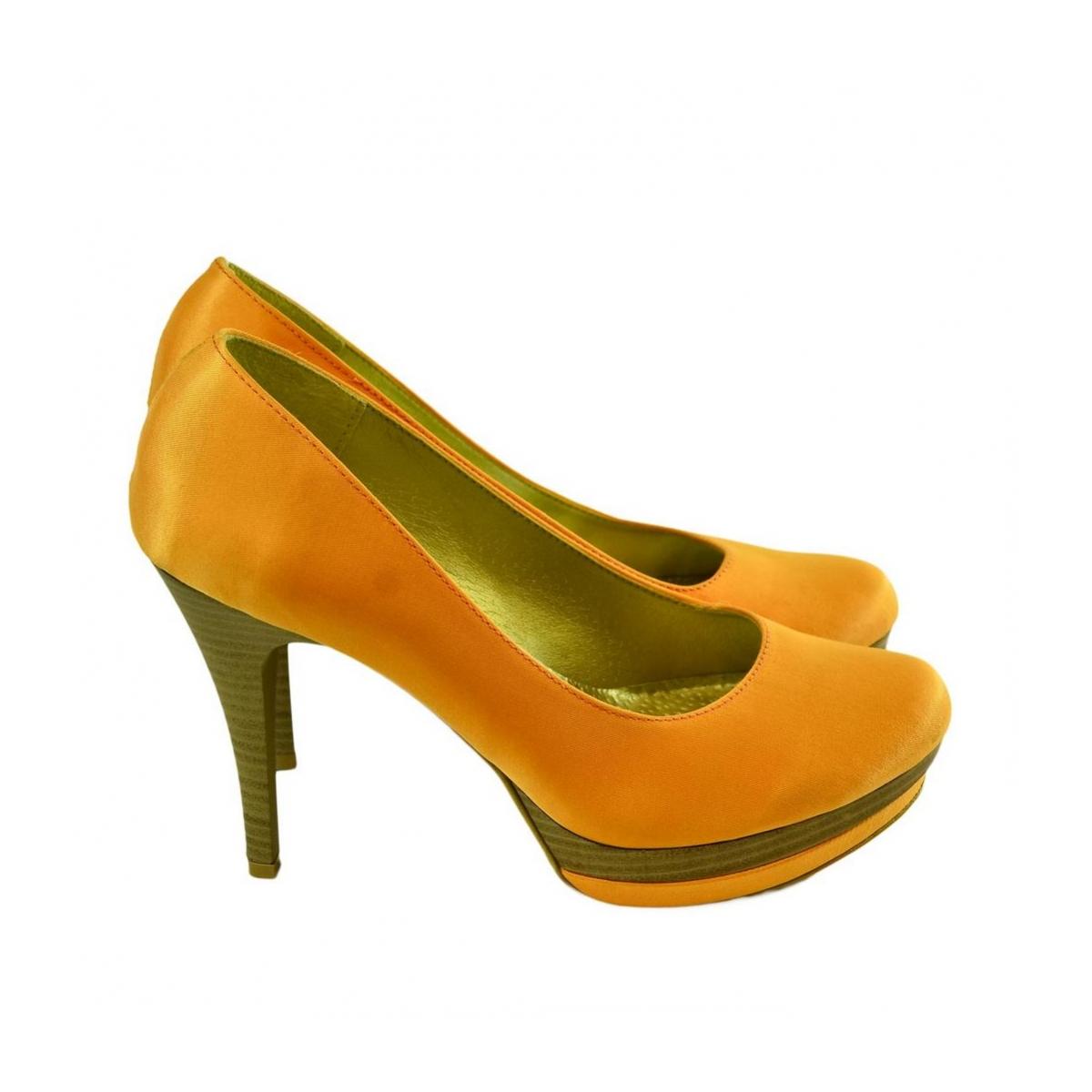 Dámske oranžové lodičky STRIA - 2 e54e2c8884