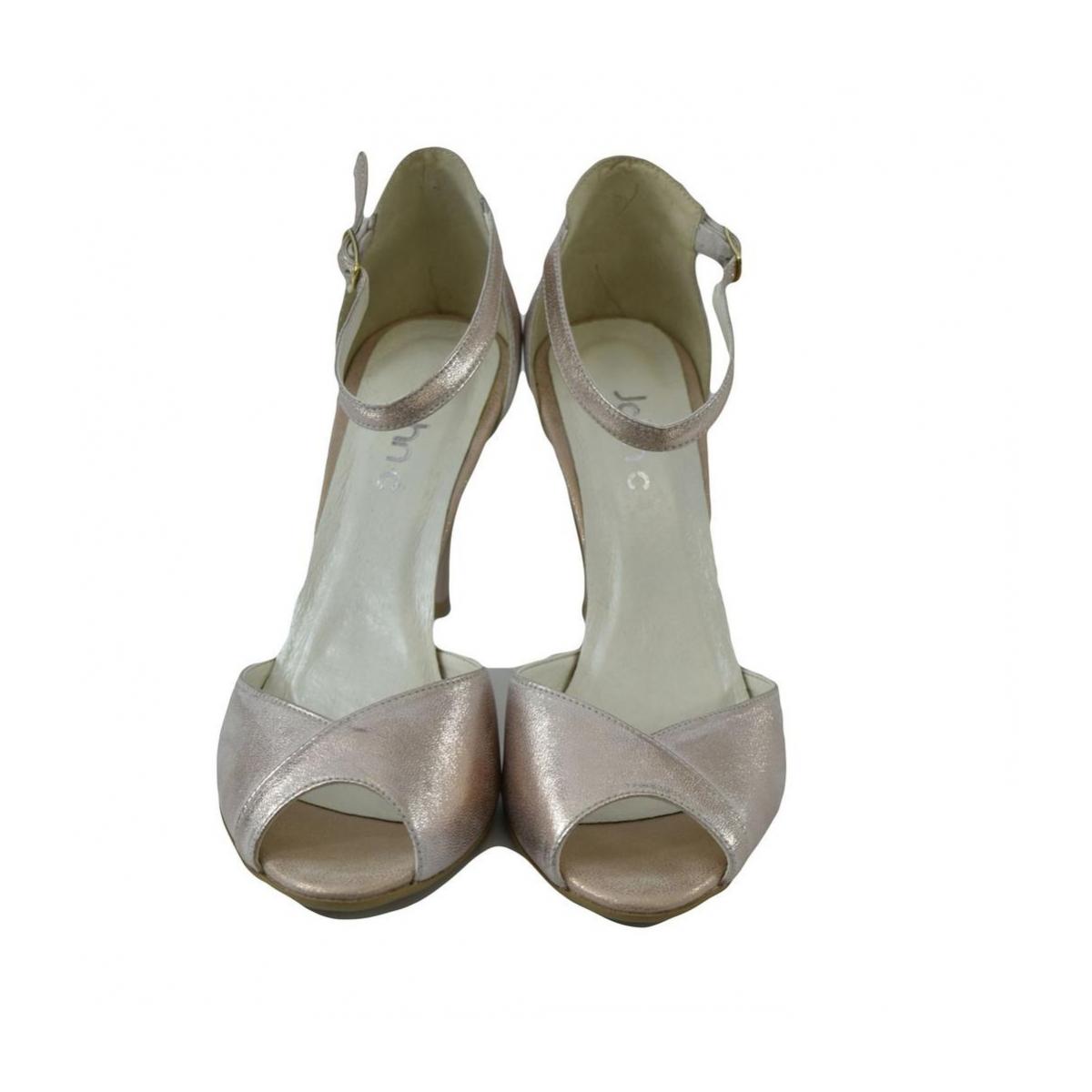 c685f8e76aa3 Dámske kožené ružové sandále MADAS - 7