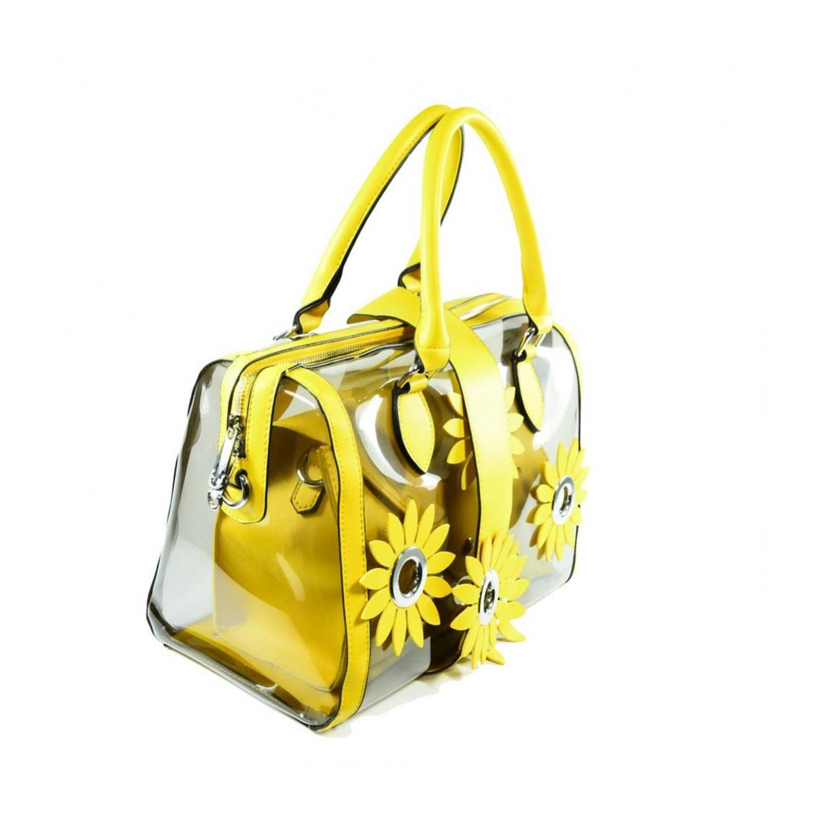 65781ca1a Dámska žltá kabelka FLOWER - 4