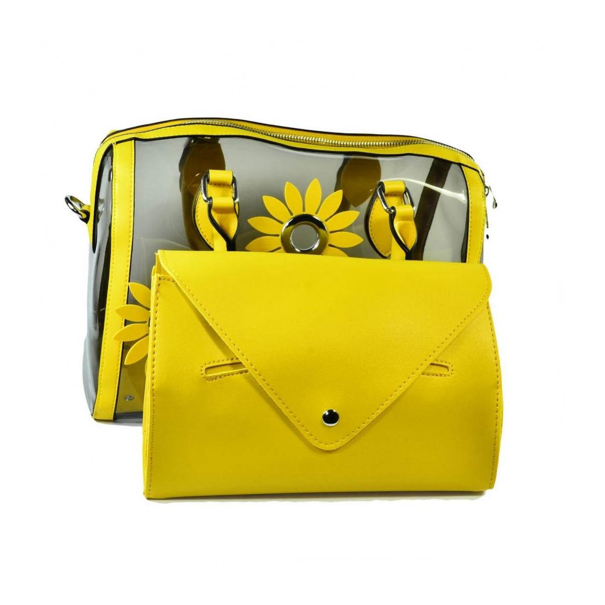 5b87db905 Dámska žltá kabelka FLOWER - 2