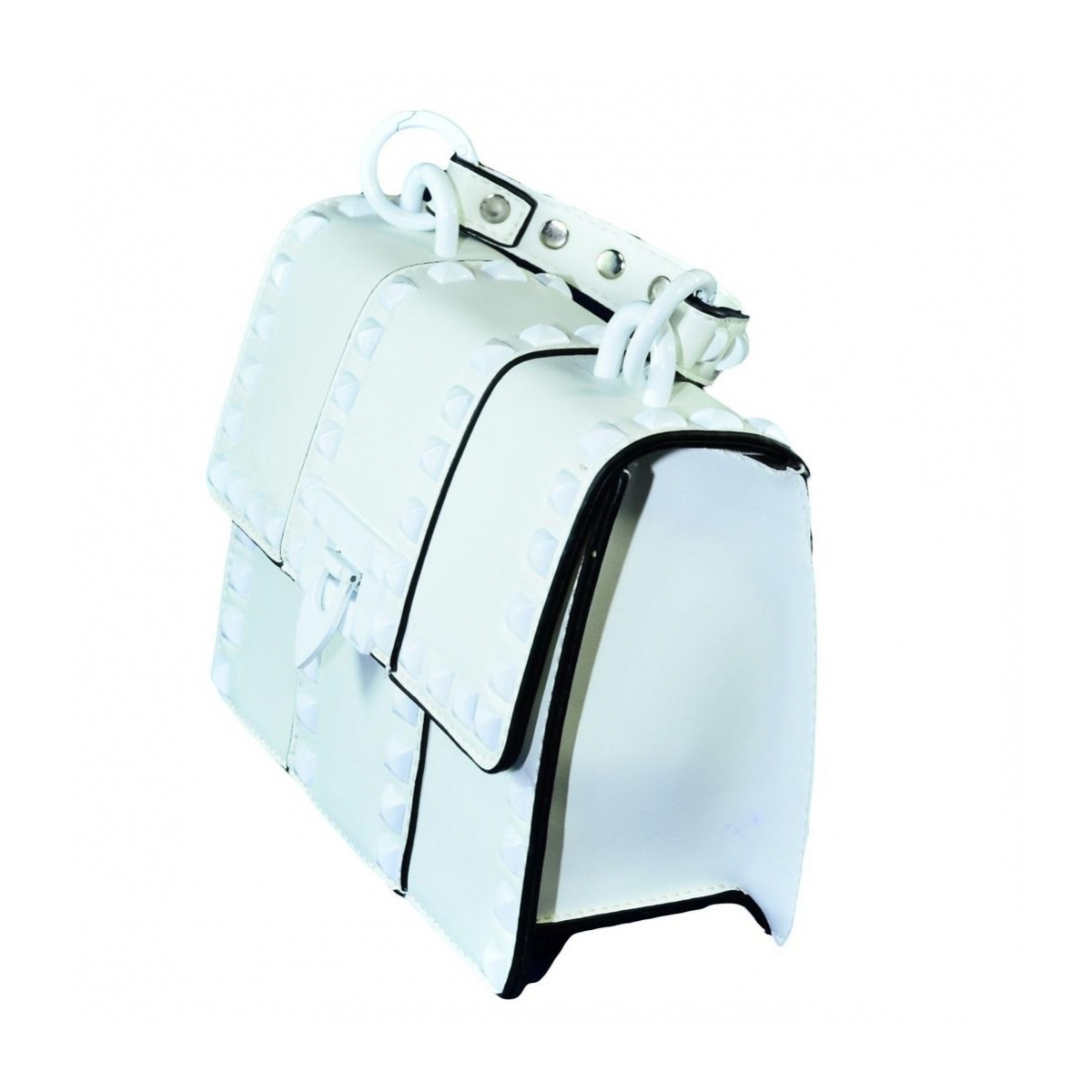03e31fc2054a3 Dámska biela kabelka RECHO - 3