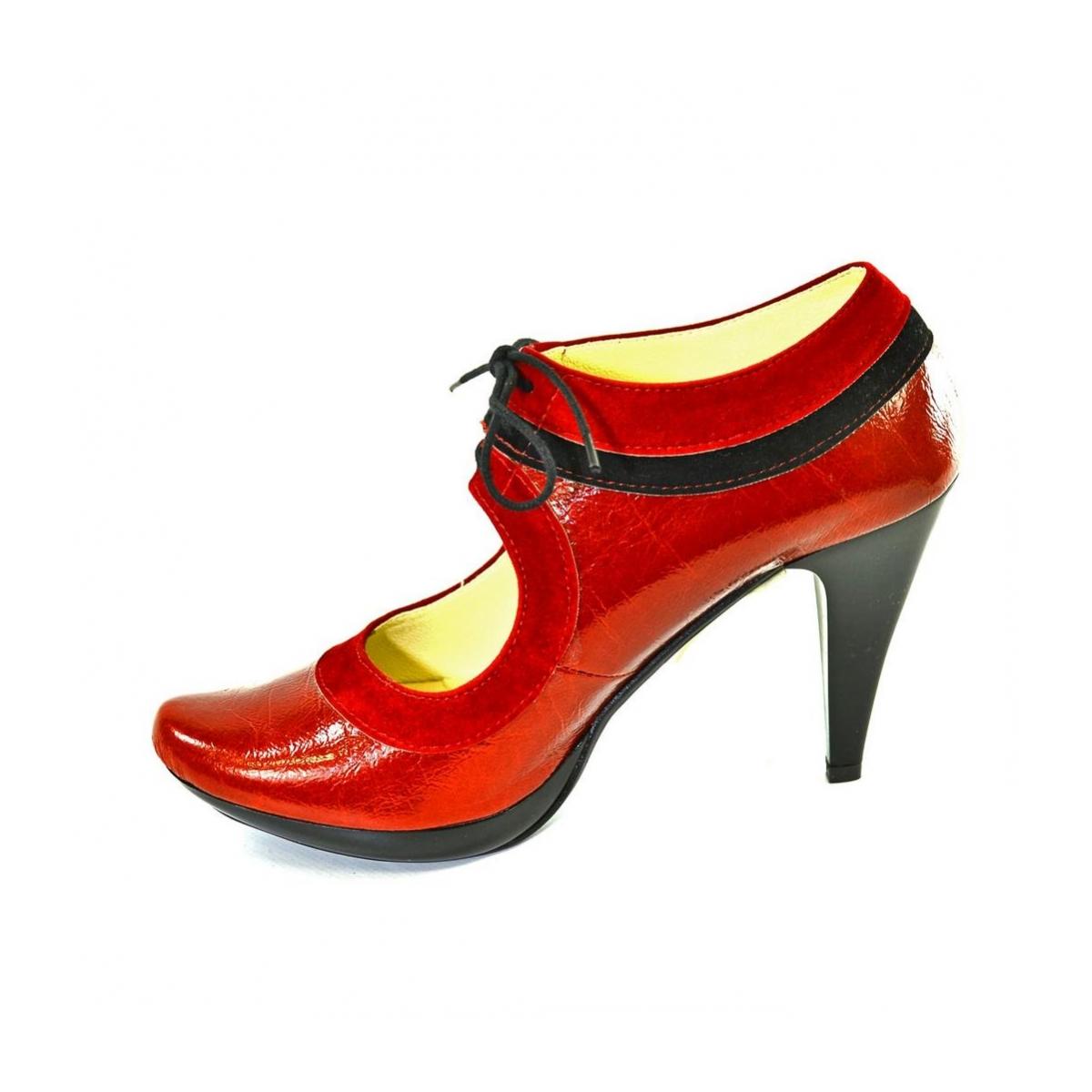 23f9bdddd66d Dámske červené topánky ALLAS - 2