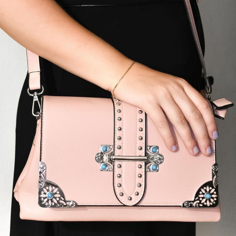 Dámska ružová kabelka TIONA