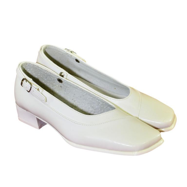 Detské biele spoločenské topánky VIOLA