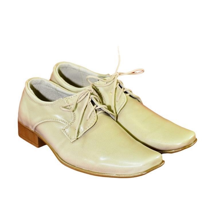 Detské béžové spoločenské topánky ANOLO