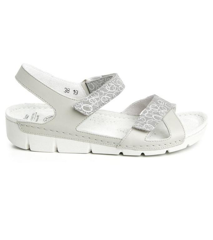 Dámske kožené sivé sandále TOLEDO