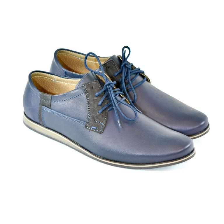 Pánske kožené modré topánky IVEN