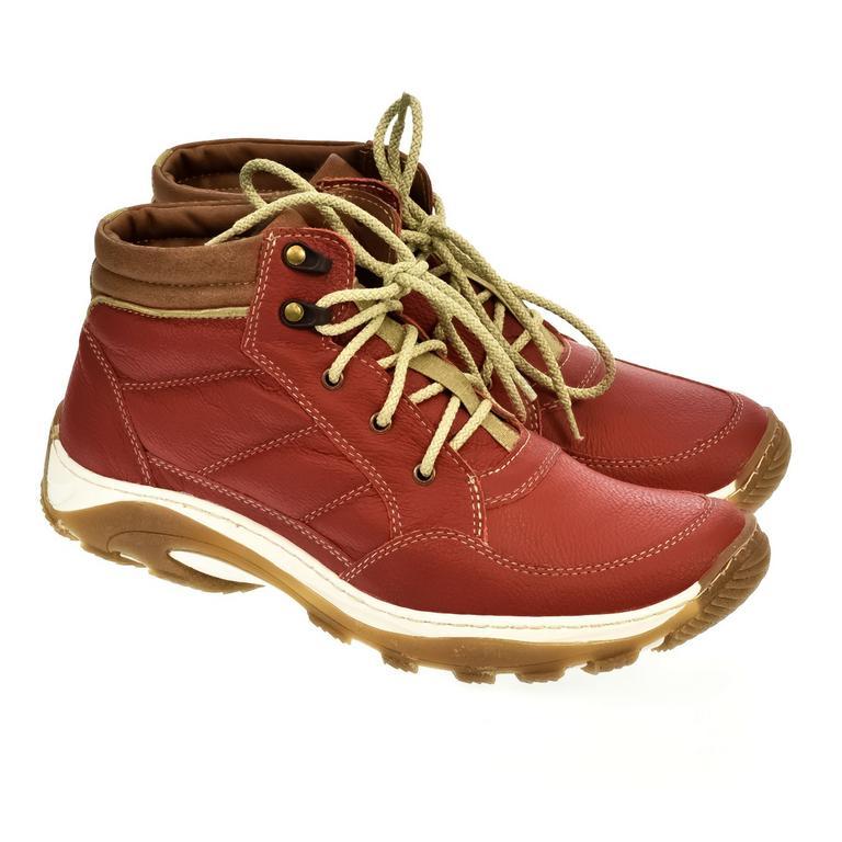Pánske červené kožené topánky CANO
