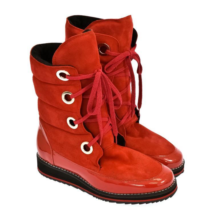 Dámske červené čižmy LAILA