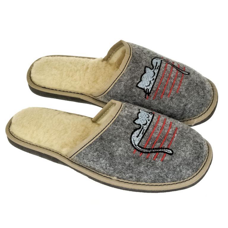 Dámske sivé papuče CATY