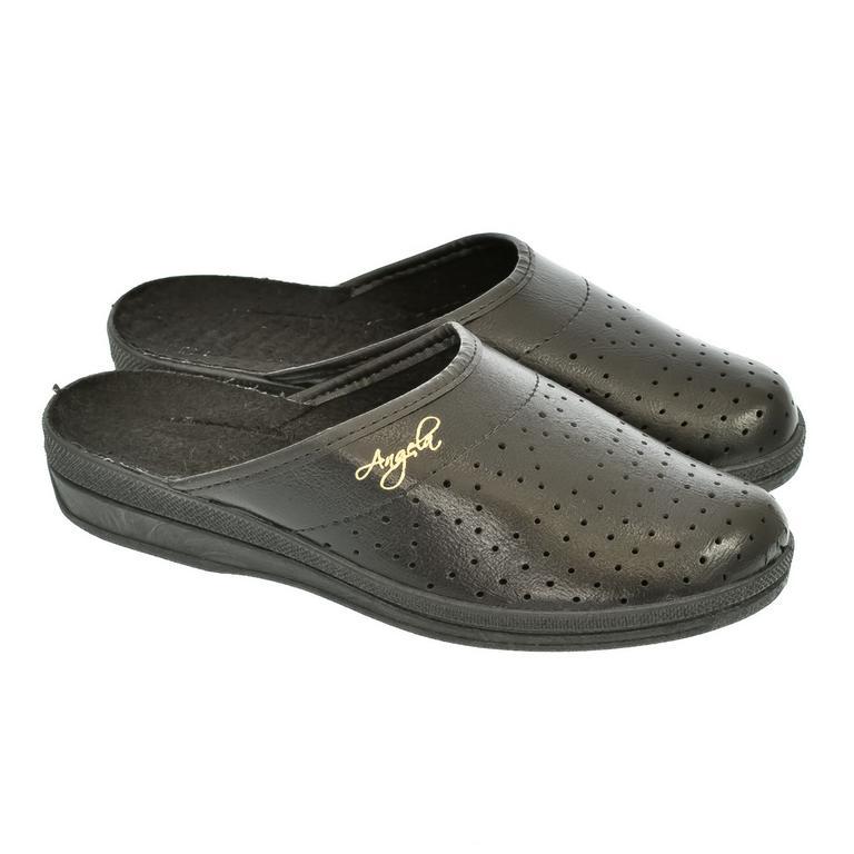 Dámske čierne papuče ANGELA