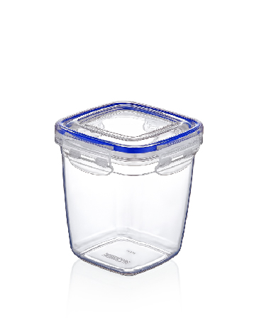 575ml štvorcová hrubá nádoba s tesnením
