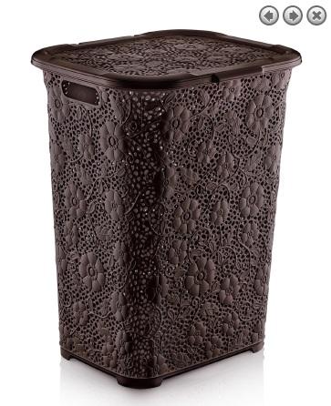 Hnedý 50L kôš na prádlo