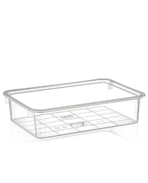 4,9L Transparentný plastový box