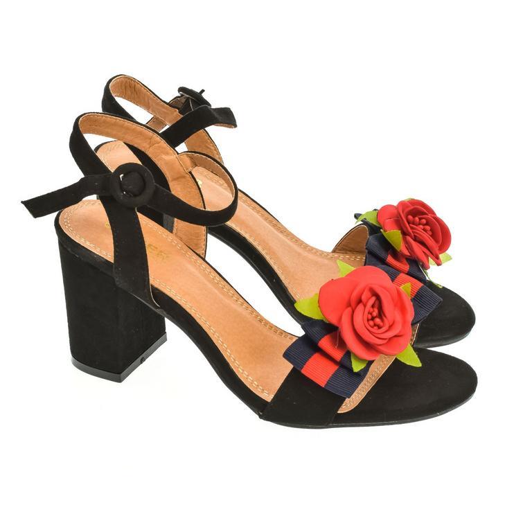 Dámske čierne sandále LITEN