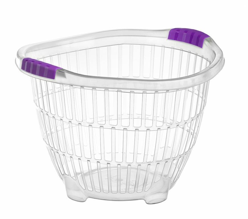 Okrúhly transparentný košík na prádlo