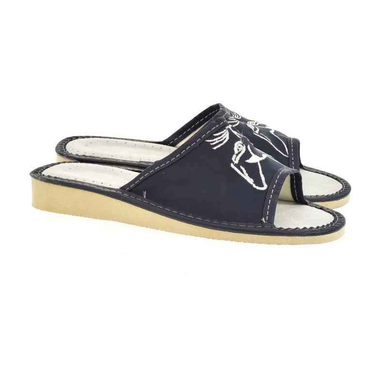 Dámske modré papuče KITY