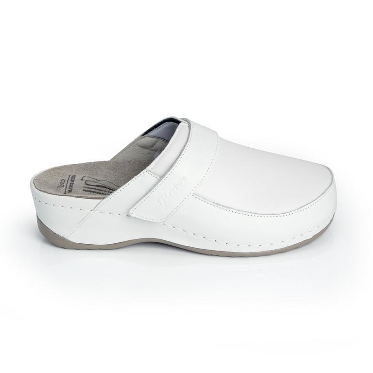 Dámske kožené biele šľapky ELENA