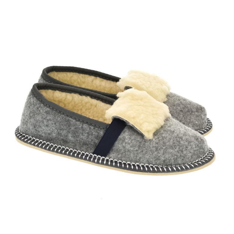 Detské sivé papuče MINO