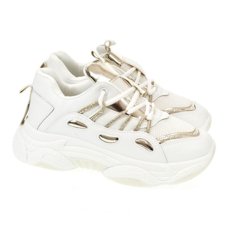 Dámske bielo-zlaté tenisky GOLA