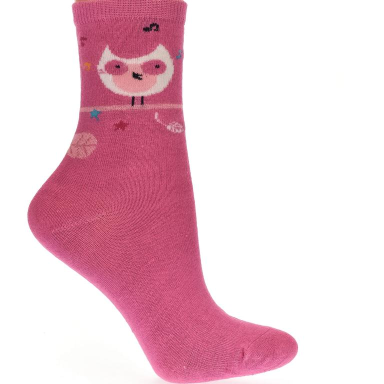 Detské ružové ponožky KITT