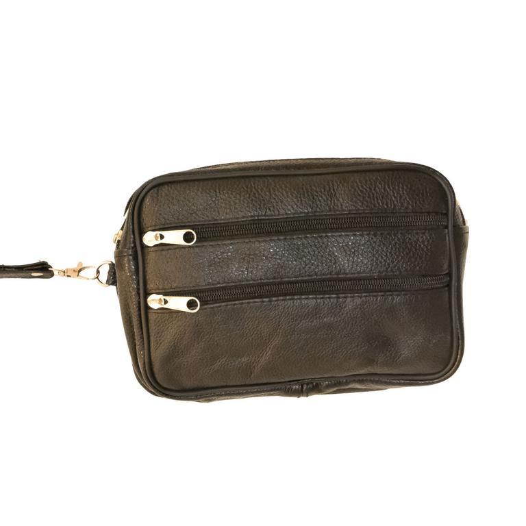 Pánska čierna kožená taška do ruky MIRO