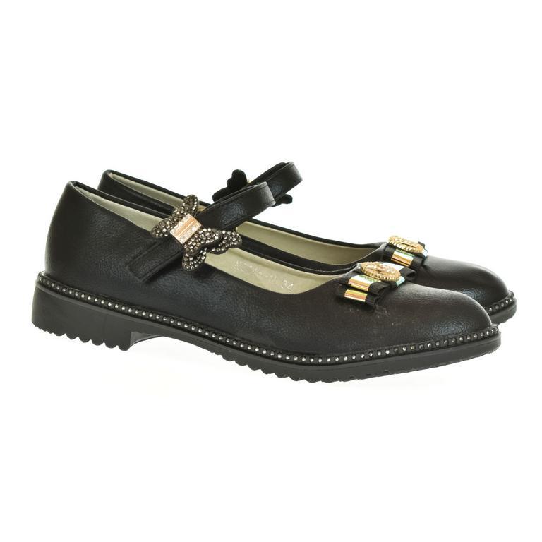 Detské čierne sandále BESSKY FIONA