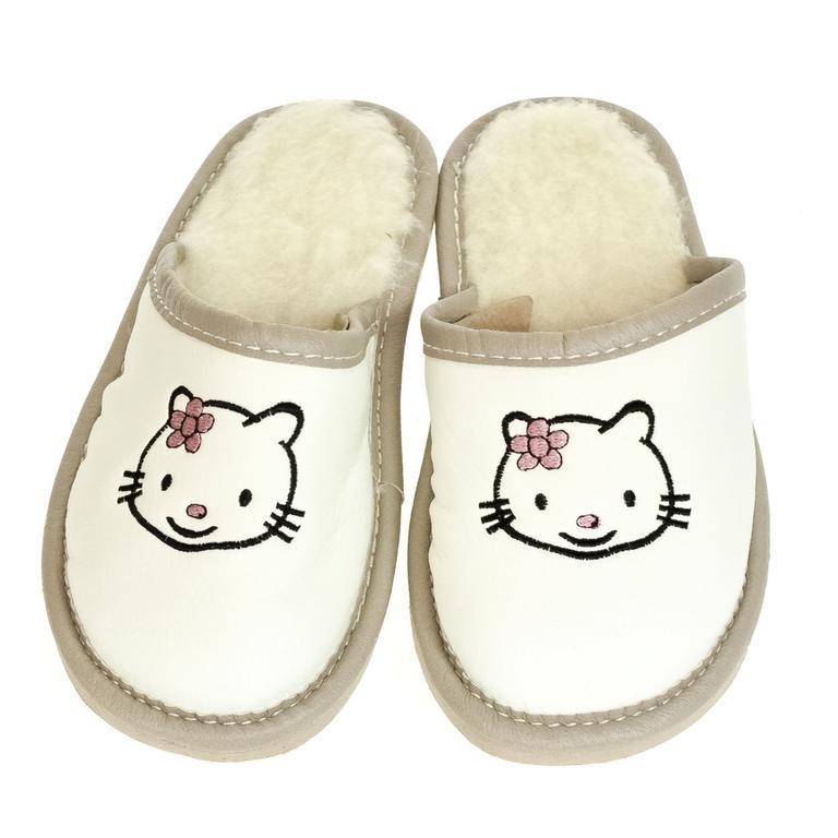 Detské biele papuče AHOJ KITTY