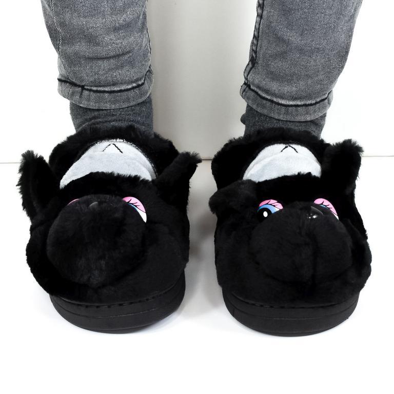 Dámske čierne papuče KAYLA