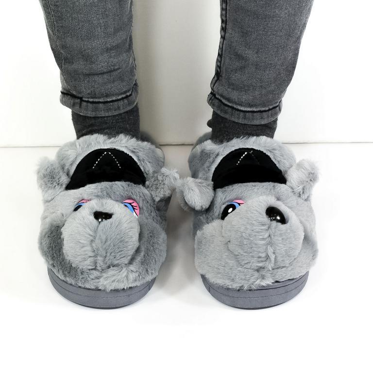 Dámske sivé papuče KAYLA